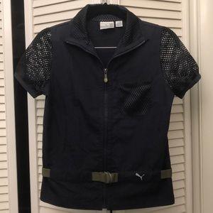 Puma short sleeve jacket navy blue